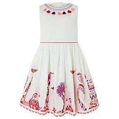 Monsoon - White 'Nola' animal dress