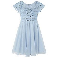 Monsoon - Girls' blue 'Evangeline' beaded dress