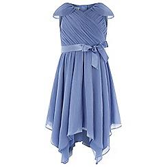 Monsoon - Girls' blue 'Gracie' Grecian dress
