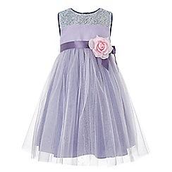 Monsoon - Girls' purple 'Julietta' flower dress