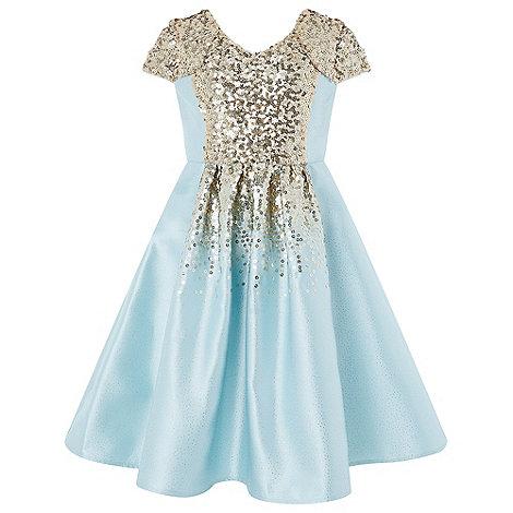 Monsoon Girls\' Blue \'Zinnia\' sequin dress | Debenhams