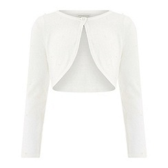 Monsoon - Girls' white pearl embellished cardigan