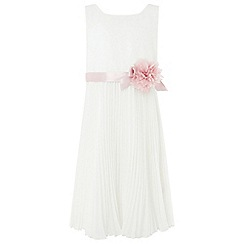 Monsoon - Girls' White 'Keita' Dress