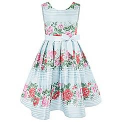 Monsoon - Girls' blue 'Francoise' stripe dress