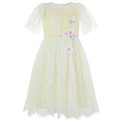 Monsoon - Girls' yellow 'Domenica' dress