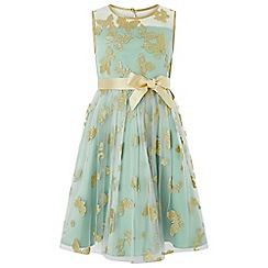 Monsoon - Girls' blue flutter glitter dress