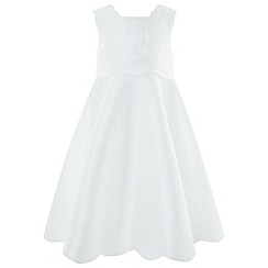Monsoon - Girls' White 'Tulip Scallop' Dress