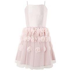 Monsoon - Girls' pink rosalie cascade dress