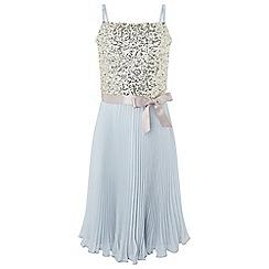 Monsoon - Girls' blue shanghai pleat dress