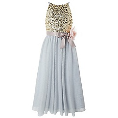 Monsoon - Girls' blue 'Honor' maxi dress