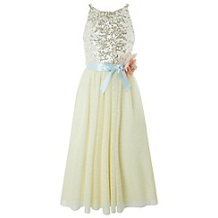 Monsoon - Girls' yellow 'Honor' maxi dress