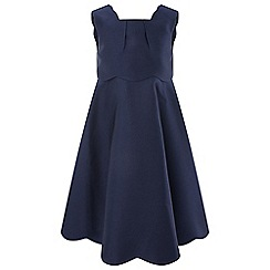 Monsoon - Girls' Blue 'Tulip Scallop' Dress