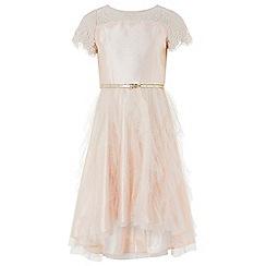 Monsoon - Pink 'Quinn' ruffle dress