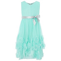 Monsoon - Girls' blue 'Beau Rose' dress