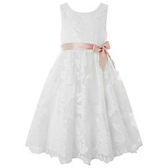 Monsoon - Girls' white 'Ottilie' flower dress