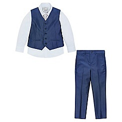 Monsoon - Boys' Blue 'Rufus' Tonic 4PC Suit Set