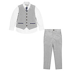 Monsoon - Boys' Grey Sterling 4PC Suit Set