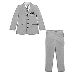Monsoon - Boys' grey Sterling 5Pc suit set