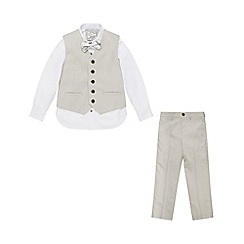 Monsoon - Boys' Grey Brooks 4PC Suit Set