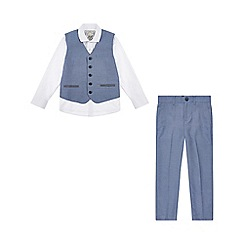 Monsoon - Boys' blue Lane 3Pc suit set
