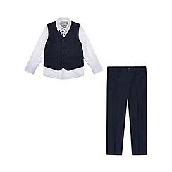 Monsoon - Boys' blue 'Cosgrove' 4 piece suit set