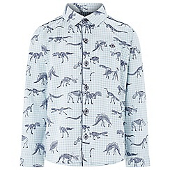 Monsoon - Boys' white fossil print long sleeved shirt