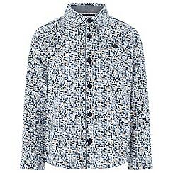 Monsoon - Boys' white 'Declan' London print shirt