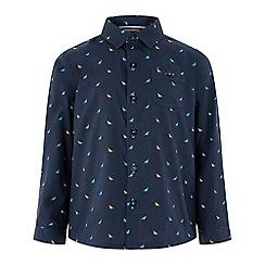 Monsoon - Boys' blue 'Dippy' print long sleeved shirt