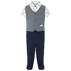 Monsoon - Boys' White newborn 'Jamie' Boat Waistcoat All In One