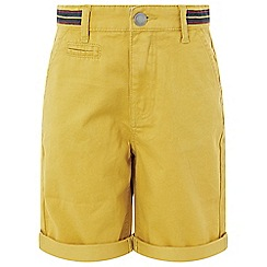 Monsoon - Boys' yellow 'Frank' mustard shorts
