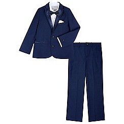 Monsoon - Boys' blue 'Thomas' tuxedo