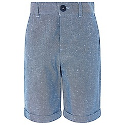 Monsoon - Boys' blue 'Don Chambray' shorts