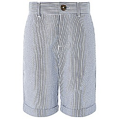 Monsoon - Boys' blue 'Benson Seersucker' stripe shorts