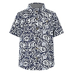 Monsoon - Blue 'Patrick' printed shirt