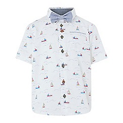 Monsoon - White 'Simon Sail' boat shirt and bow tie