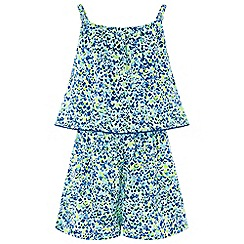 Monsoon - Girls' Green 'Elena' Print Playsuit