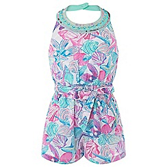 Monsoon - Girls' Pink Pearly Playsuit