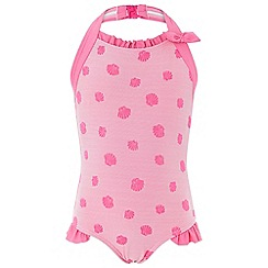 Monsoon - Girls' Pink Shell Texture Swimsuit