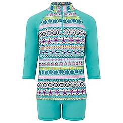 Monsoon - Girls' Blue 'Ria' Sunsafe Surfsuit