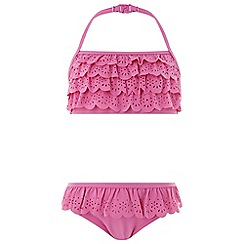 Monsoon - Girls' Pink 'Lola' Laser Cut Bikini