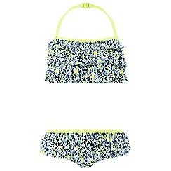 Monsoon - Girls' Green 'Elena' Print Bikini