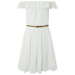 Monsoon - Girls' White Lois Lace Dress