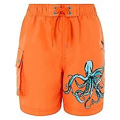 Monsoon - Orange 'Octavio' placement swimshorts