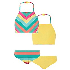 Monsoon - Multicoloured 'Shakira' stripe reversable bikini