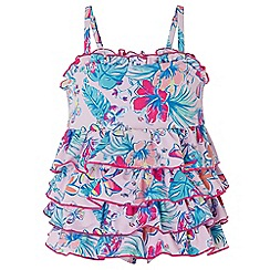 Monsoon - Pink baby' Cheska' frill swimsuit
