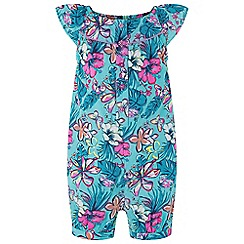 Monsoon - Green baby 'Cheska' playsuit