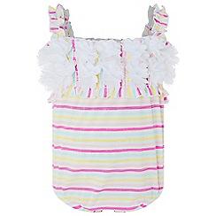 Monsoon - Multicoloured  baby 'Nia' stripe flower swimsuit