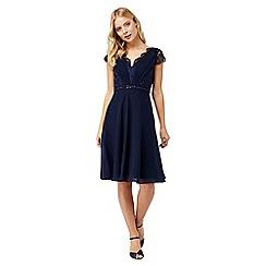 Monsoon - Blue 'Brigitte' lace Knee-length dress