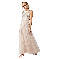 Monsoon - Pink 'Scarlett Emb' tulle maxi dress