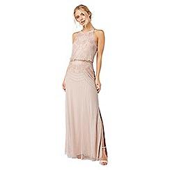 Monsoon - Pink 'Blake' Floral embellished maxi dress